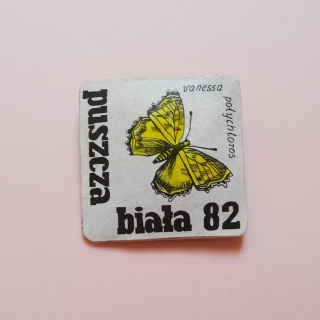 チェコ 蝶のバッジ