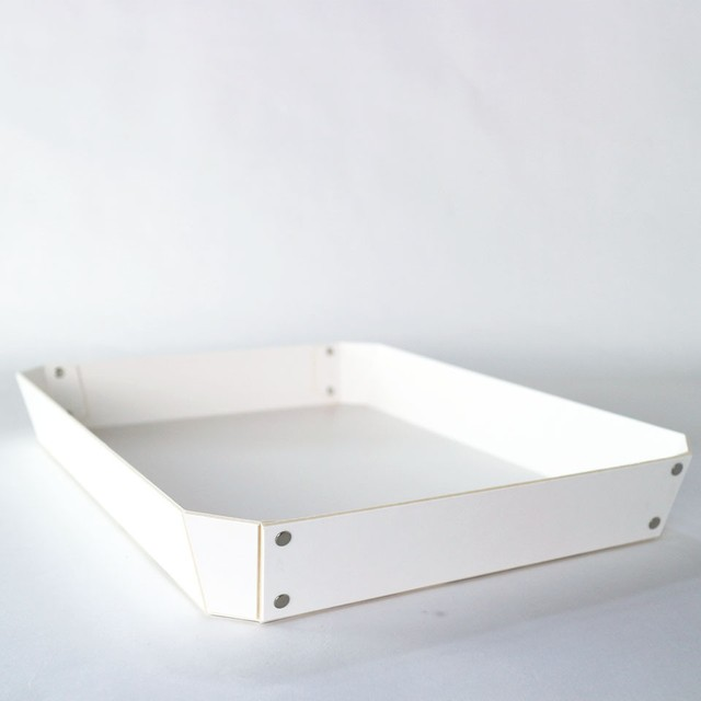 concrete craft 8_TRAY Lサイズ W27 × D35.5 × H4.5cm パスコ トレー ステーショナリー 機能性 収納雑貨 スタッキング