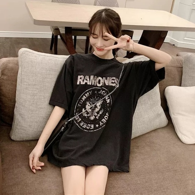 【トップス】カジュアルプリント図柄ファッションTシャツ29639927
