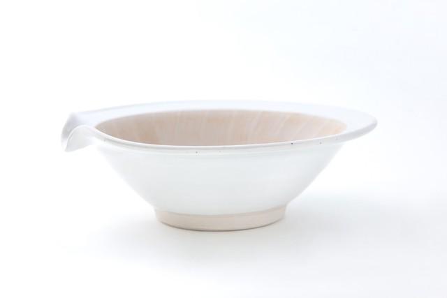 すり鉢「粉引rim 8寸」