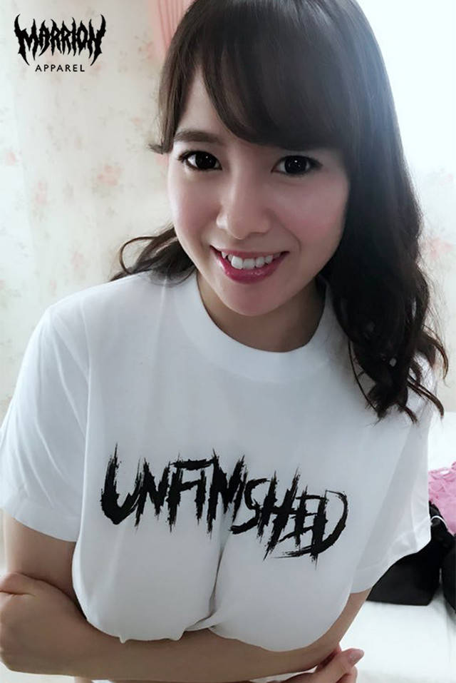 Unfinished Logo Tee (Black,White)