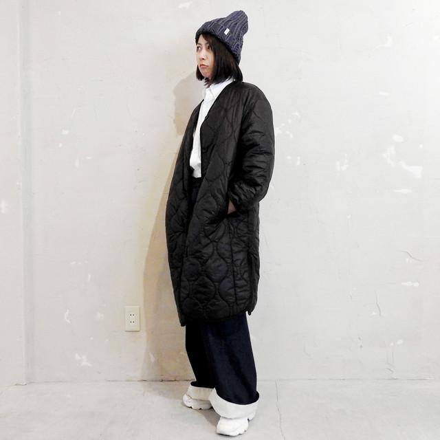 〖FUDGE掲載〗QUILT LONG COAT : black