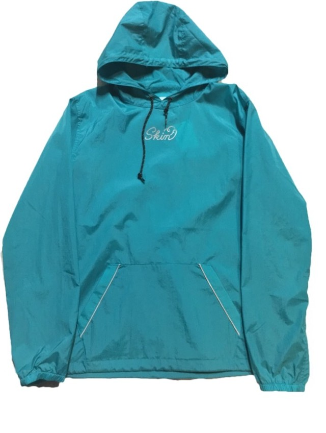 SKIN / nylon hoodie(blue) - メイン画像