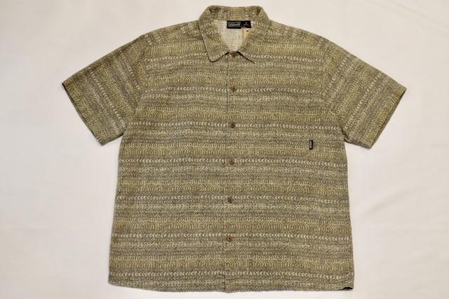 USED 90s patagonia SHORT-SLEEVED AC shirt -Medium 01049