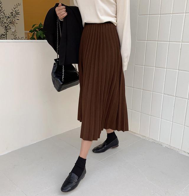 【送料無料】トレンド♪プリーツスカート♡スカート プリーツ ミディー 秋っぽ シンプル 大人女子