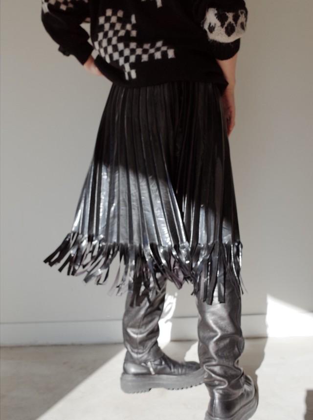 used fringe pleats skirt