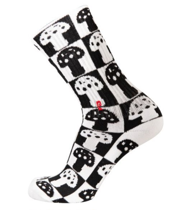 PSOCKADELIC CHECKEREDMUSH PSOCKS BLACK / WHITE