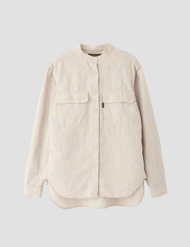 Cotton linen work shirt Beige / lelill