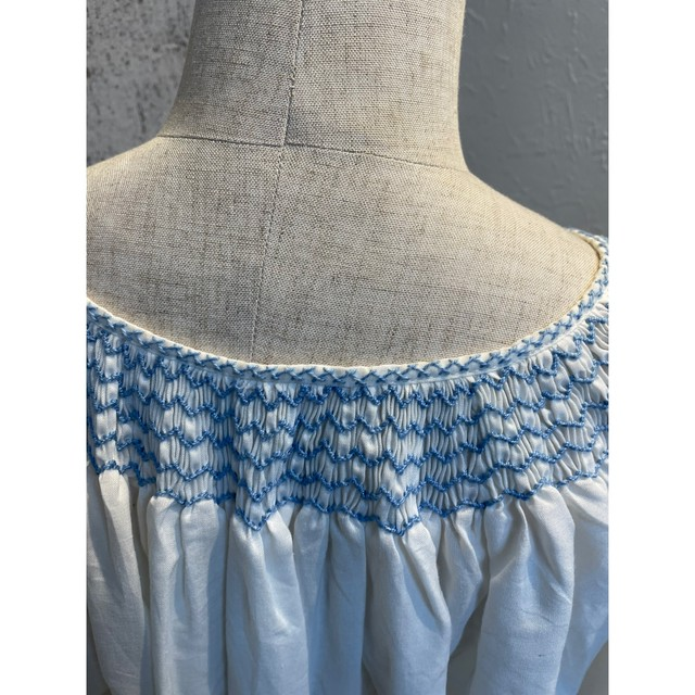 Pail tone embroidery blouse