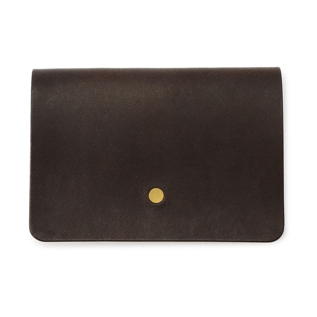 forme Hand wallet Liscio dark brown