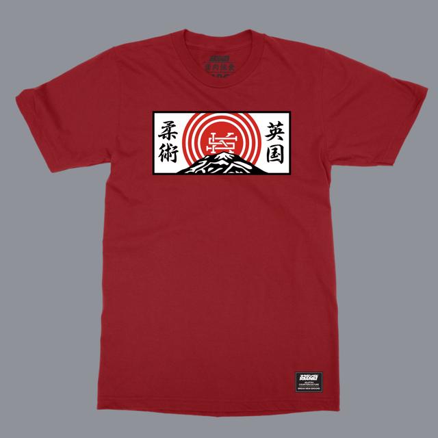 SCRAMBLE MOUNTAIN T-SHIRT レッド |格闘技 柔術Tシャツ