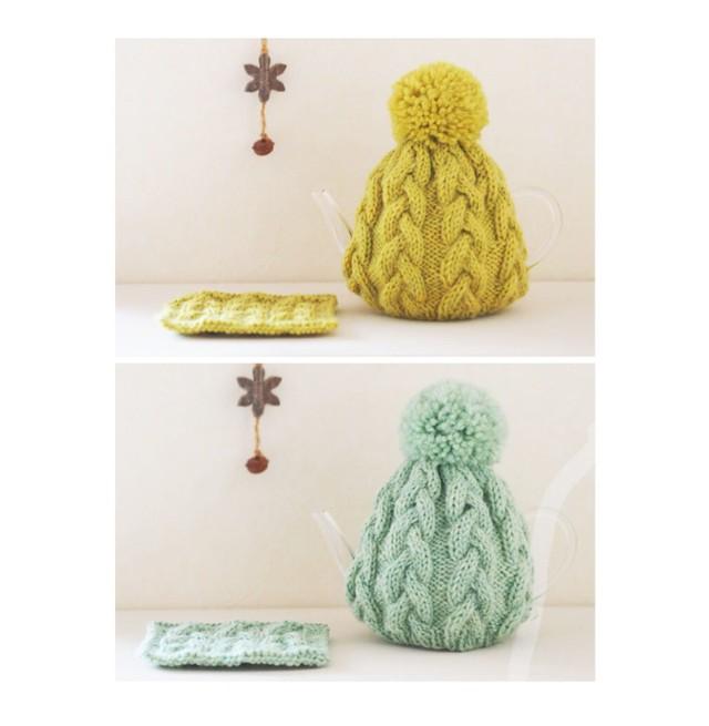 [編み物キット]花模様のニット帽