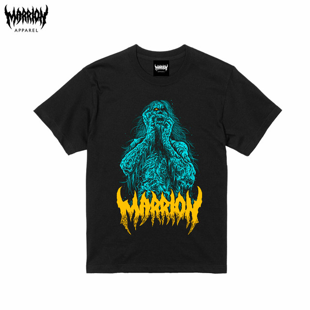 Brutal Zombie T-shirts (Blue×Yellow)