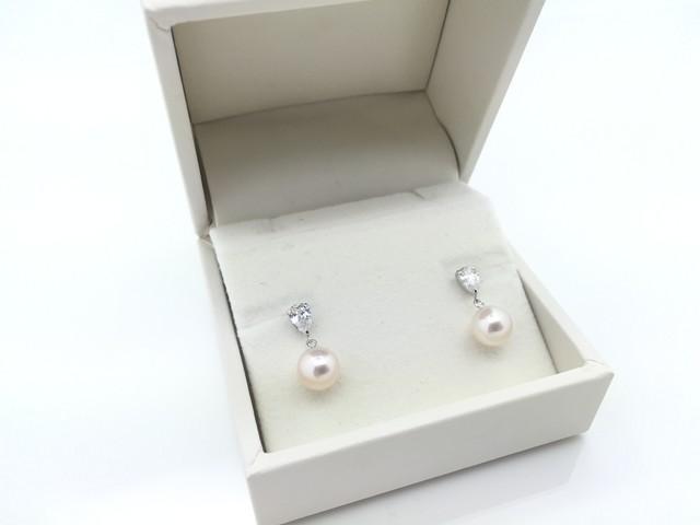 アコヤ真珠デザインピアス