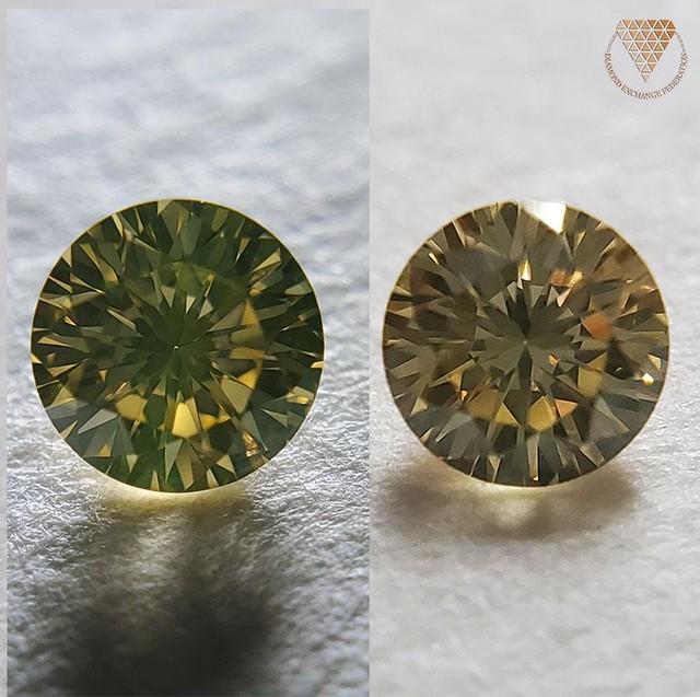 0.217 ct F.L.Br.Or.Yellow SI1 天然 ダイヤモンド