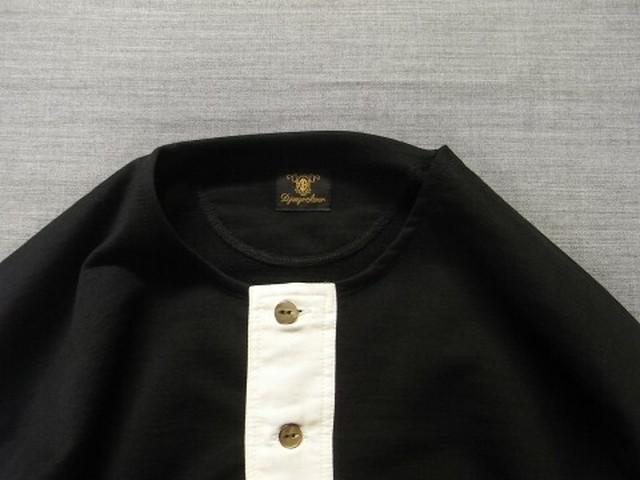 classic henleyneck longsleeve / black