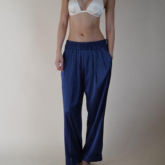 Nu Pajamas Wide Slacks  Navy(ユニセックス)