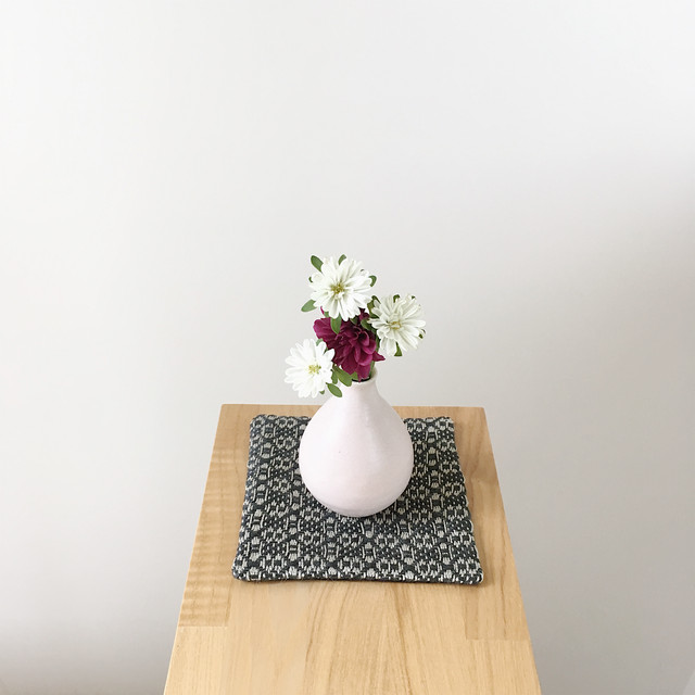 Coaster Flower Linen Black