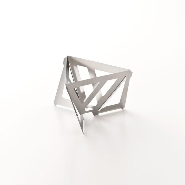 ミニマルデザインのドリッパー Tetra Drip(テトラ ドリップ)02S ステンレス Lサイズ