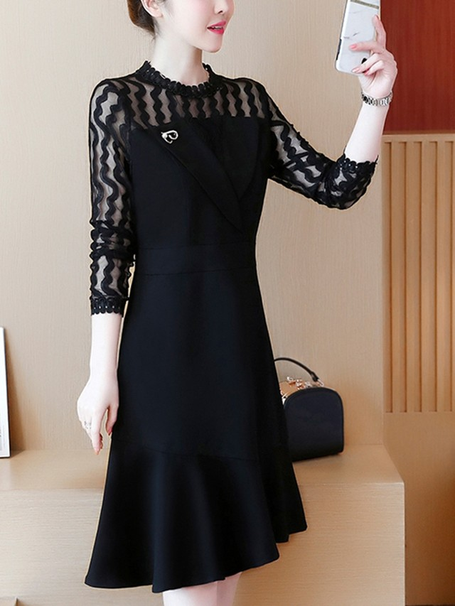 【dress】Fashion lace new temperament dress