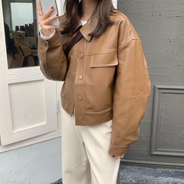ショートレザージャケット