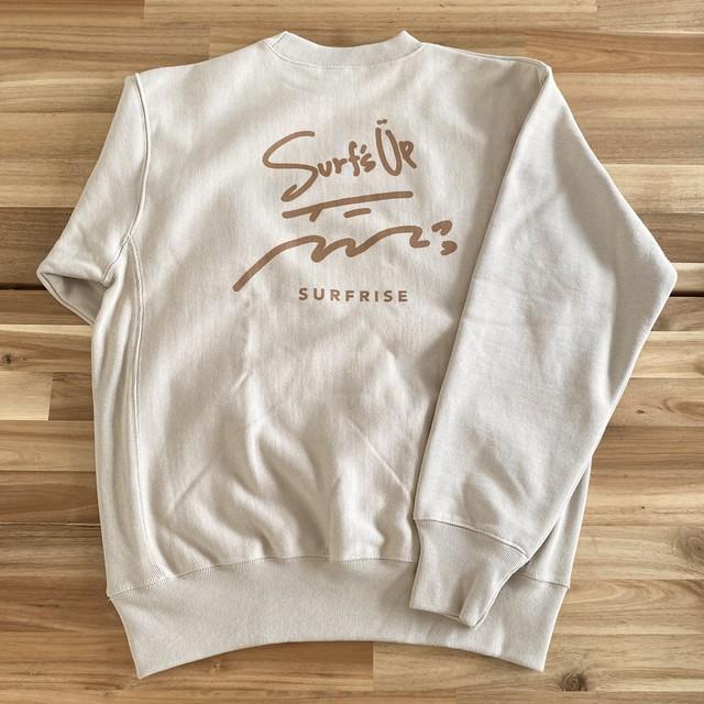 【予約:10月中旬発送】Surf's Up sweat - Sand beige