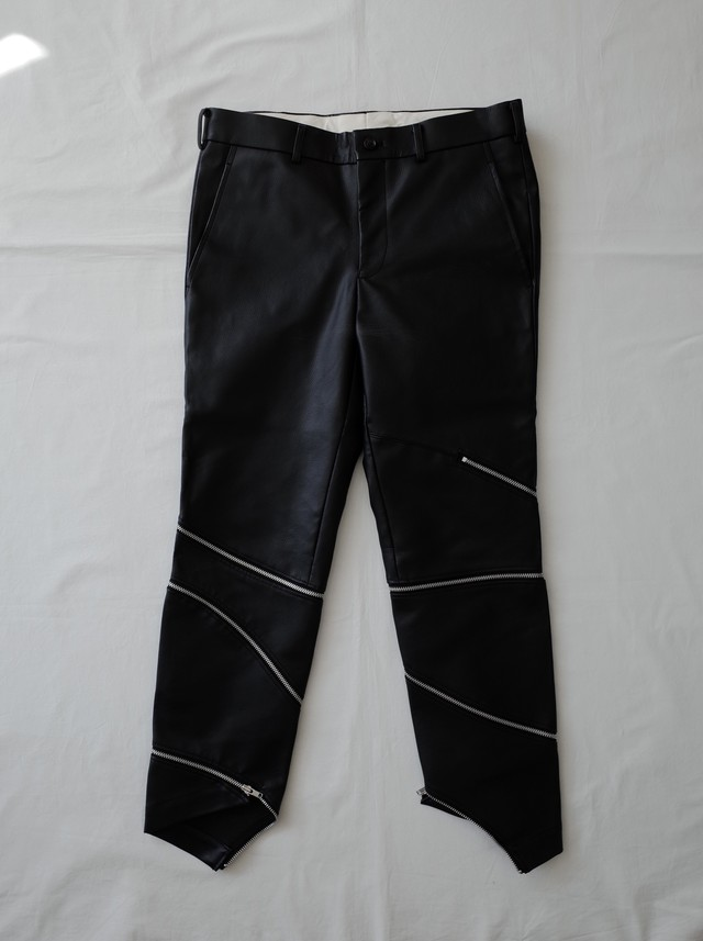 Used COMME des GARCONS HOMME PLUS 18AW White Shock期 fake leather pants