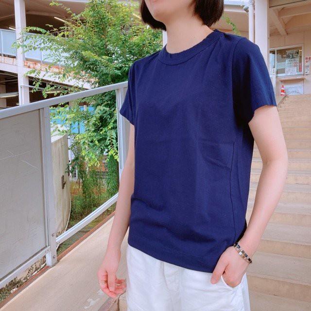 homspun (ホームスパン) 天竺半袖Tシャツ ネイビー