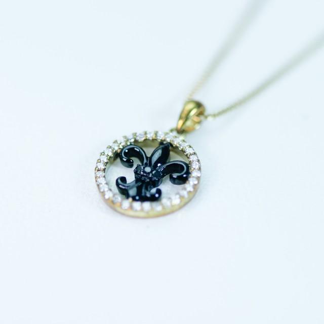 ブラウンダイヤモンド サークルデザインペンダント K18ピンクゴールド