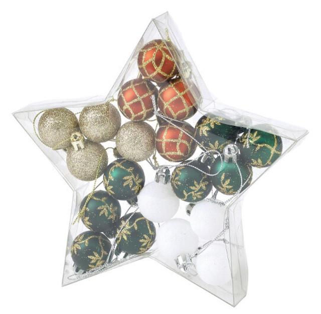 クリスマス パーティーオーナメント 3cmボール20個セット グリーン04/浜松雑貨屋 C0pernicus