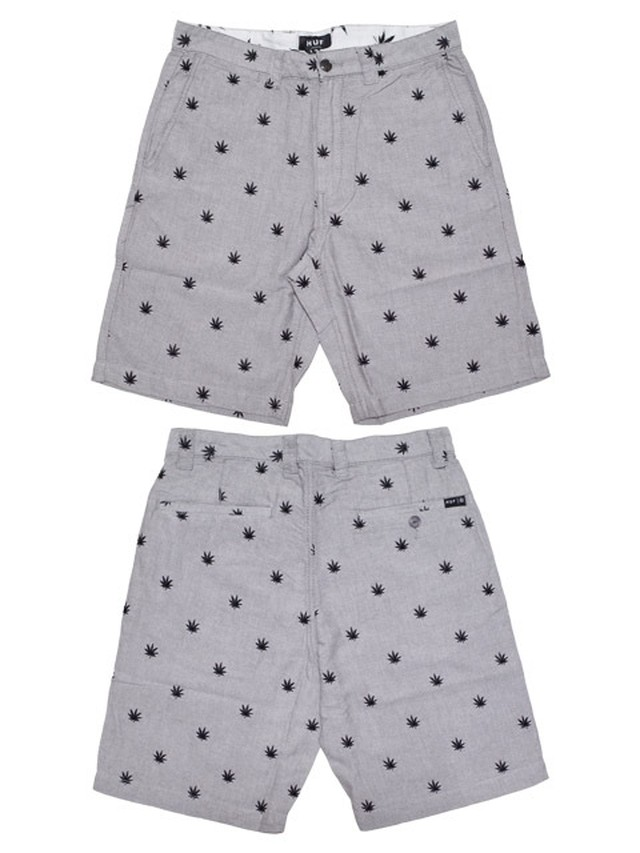 【HUF】 PLANTLIFE EMBROIDERED SHORTS / GRAY