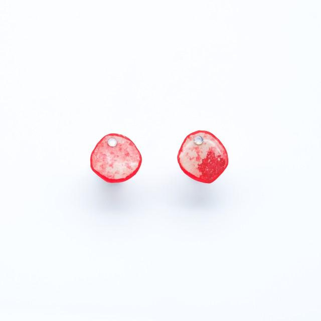 """Colorful"" japanesepaper pierced earrings  ◼︎red"