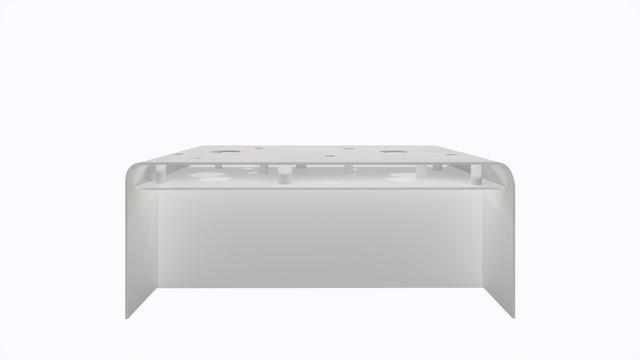 ターブル・ペルフォレ (白) - Table Perforée (White)-Width 1800mm