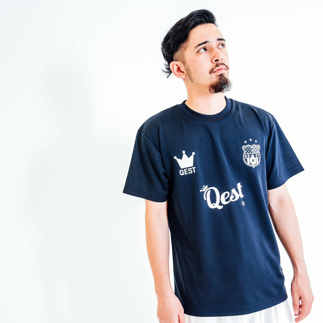 Qest Crown Practice Shirt / Navy - メイン画像