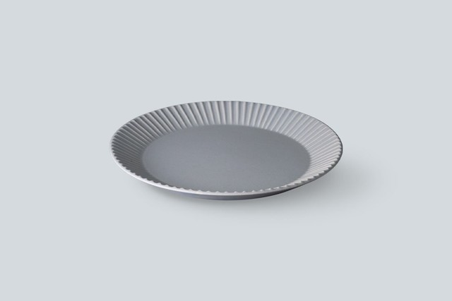 SAKUZAN STRIPE ( 作山 ストライプ ) Stripe Plate  L【グレー】