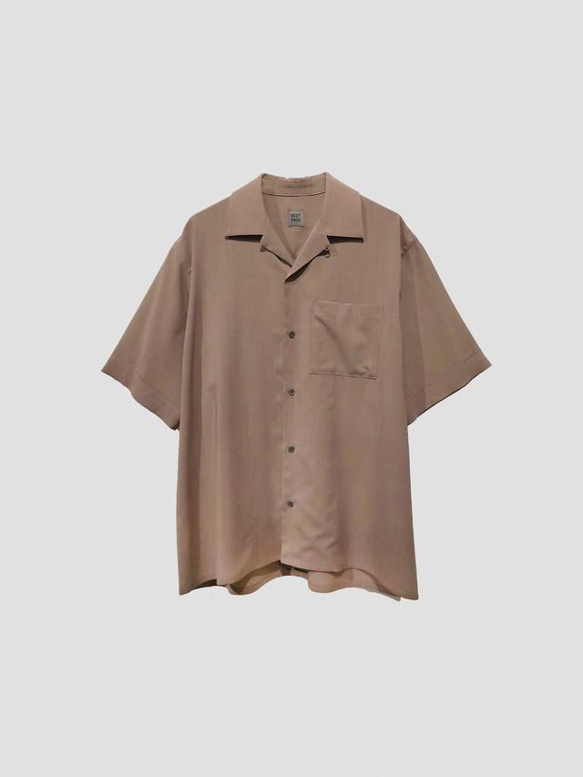 BEST PACK S/S Summer Wool Shirt Beige BPS-20H-021-3