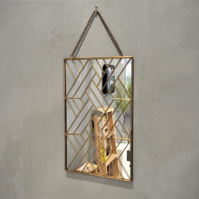 Geometry Wall Hanging Mirror S 01パターン
