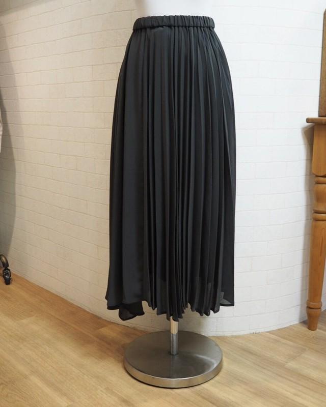 asymmetry pleated skirt