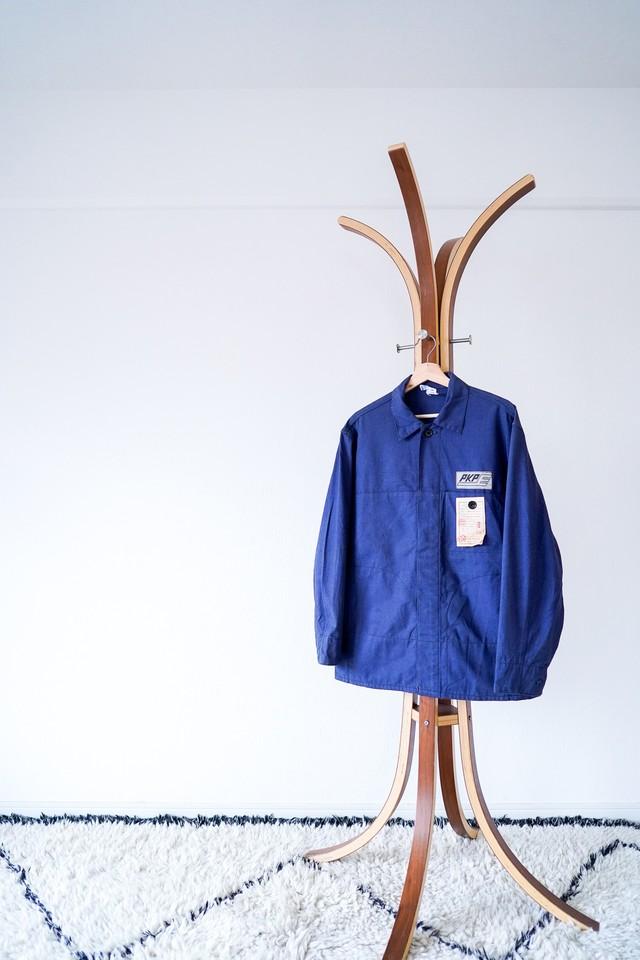 "【1970s, Deadstock】""Poland Vintage"" Cotton Twill Work JKT / v478y"