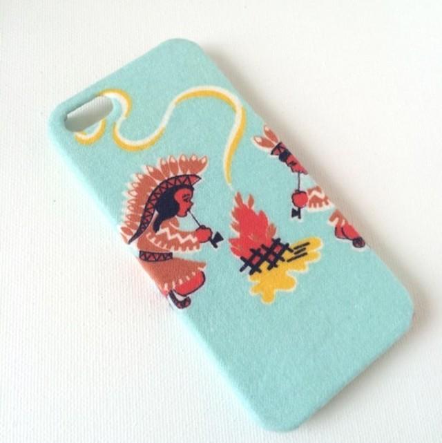 フワフワ手触りインディアンガール iPhoneSE/5sケース