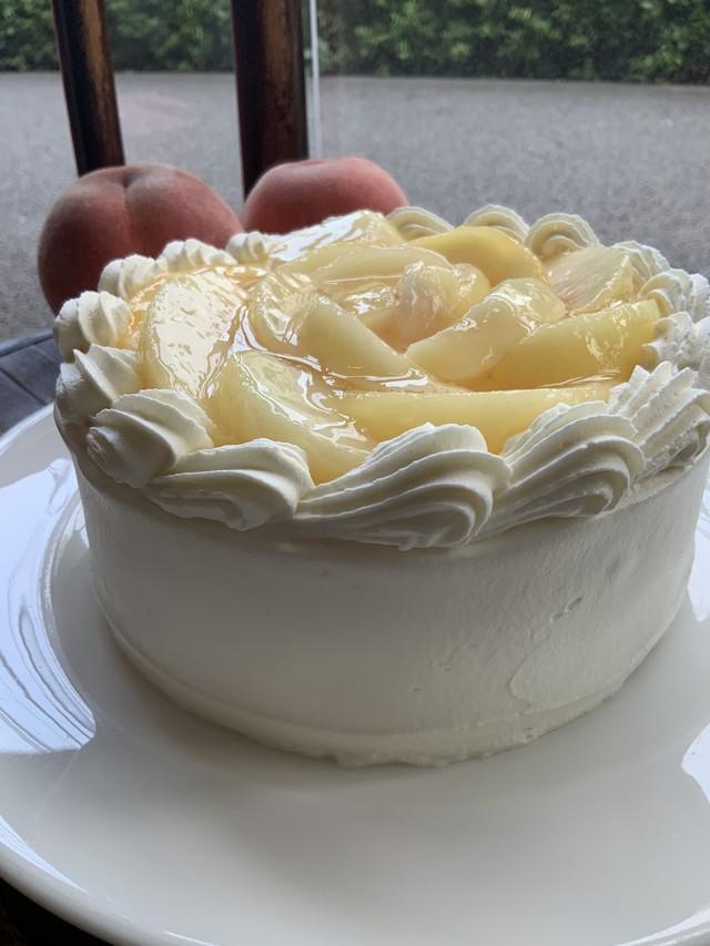 【テイクアウト】季節限定桃のショートケーキ5号