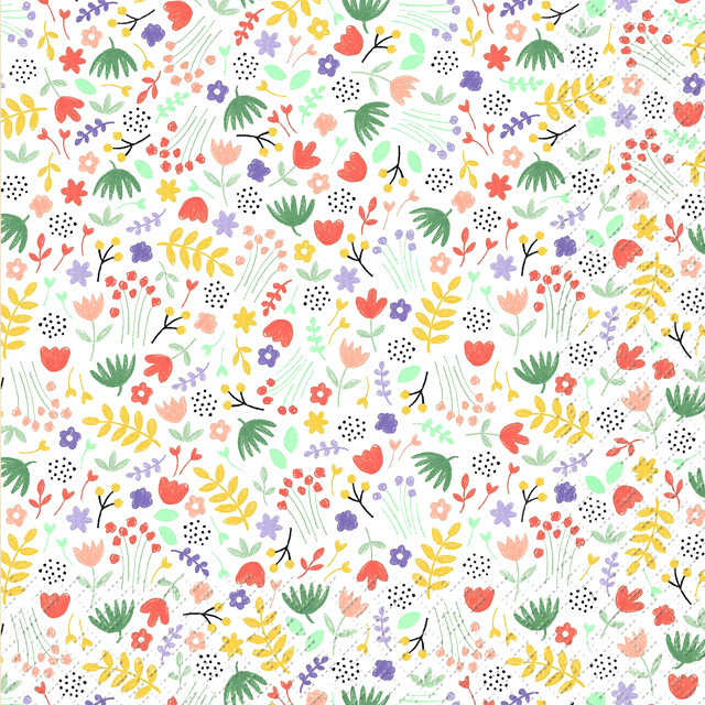 2021春夏【Stewo】バラ売り2枚 ランチサイズ ペーパーナプキン Feline ホワイト