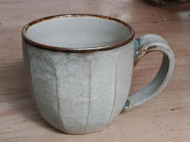 やちむん 青陶舎 青柳晃 コーヒーが似合うマグカップ(灰)