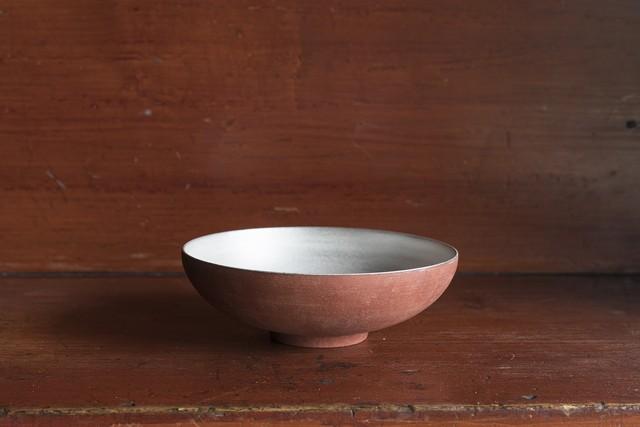 赤土銀彩鉢 / 大森健司