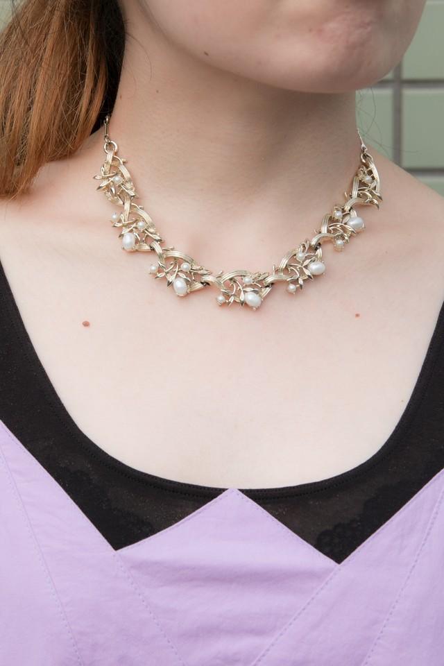 【Run Rabbit Run Vintage 】Gold × pearl necklace