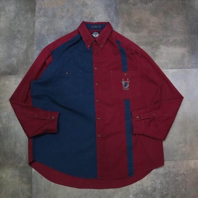 two-tone design shirt
