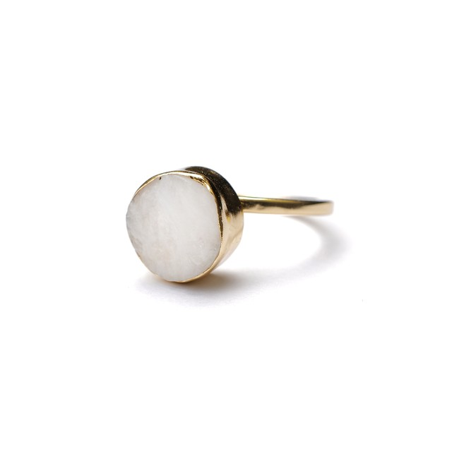ROUGH STONE RING GOLD 027