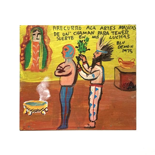EREACHE Ex-voto Dタイプ エレアチェ メキシコ エクスボト ルチャリブレ 絵 奉納画
