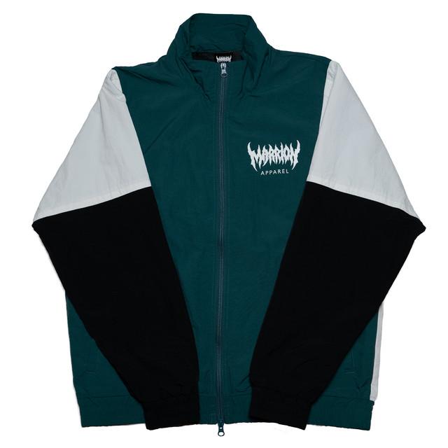 MARRION APPAREL トラックジャケット (緑×白×黒)
