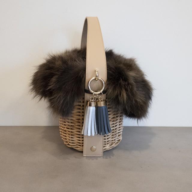 【Fur-Pillar-Large 】 Beige
